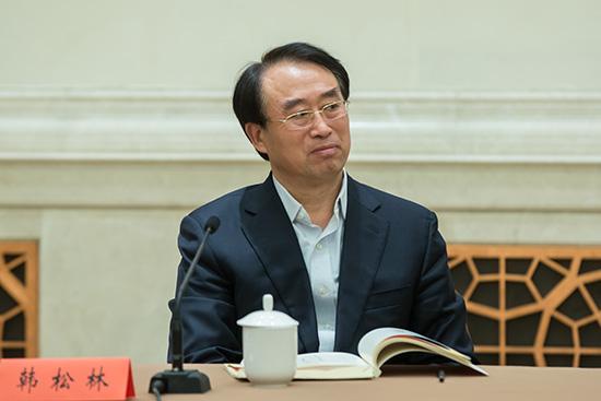 省作协党组书记、书记处第一书记、副主席韩松林在《雨花》创刊60周年座谈会