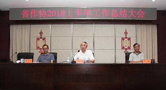 省作协召开2018年上半年工作总结大会