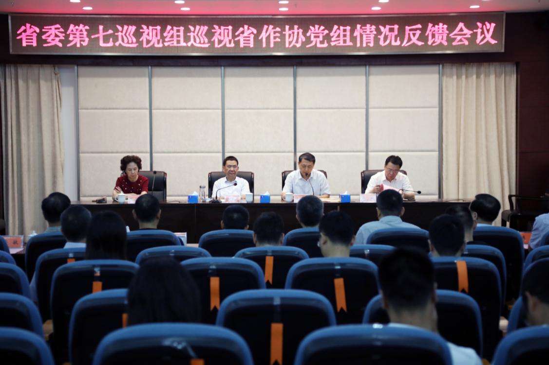 省委第七巡视组向省作协党组反馈巡视情况